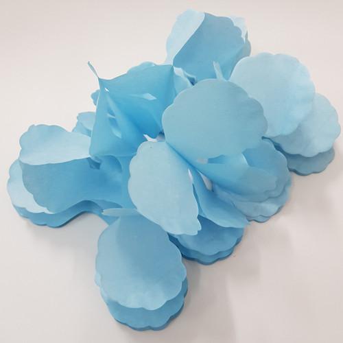 Tissue Paper 4-Leaf Clover Garland (3.6 meter) - Baby Blue
