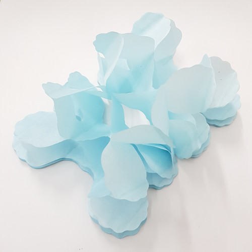 Tissue Paper 4-Leaf Clover Garland (3.6 meter) - Light Blue