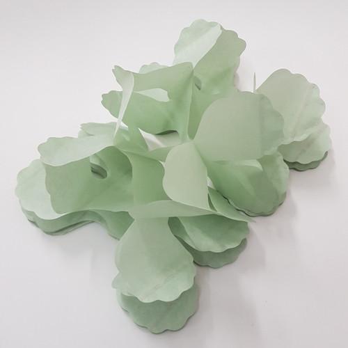 Tissue Paper 4-Leaf Clover Garland (3.6 meter) - Grey