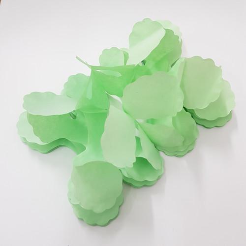 Tissue Paper 4-Leaf Clover Garland (3.6 meter) - Mint