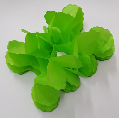 Tissue Paper 4-Leaf Clover Garland (3.6 meter) - Leaf Green