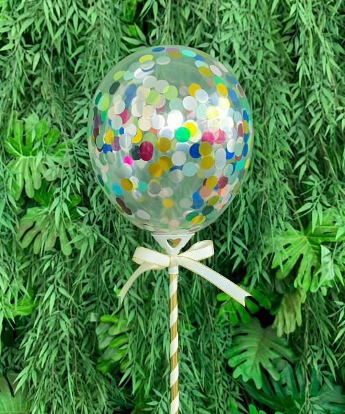 """5"""" Mini Round Confetti (1cm) Balloon Pop ( 25 colors)"""