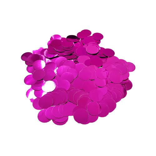 10gram Mini Paper Round Confettis (1cm) - Metallic Fuchsia