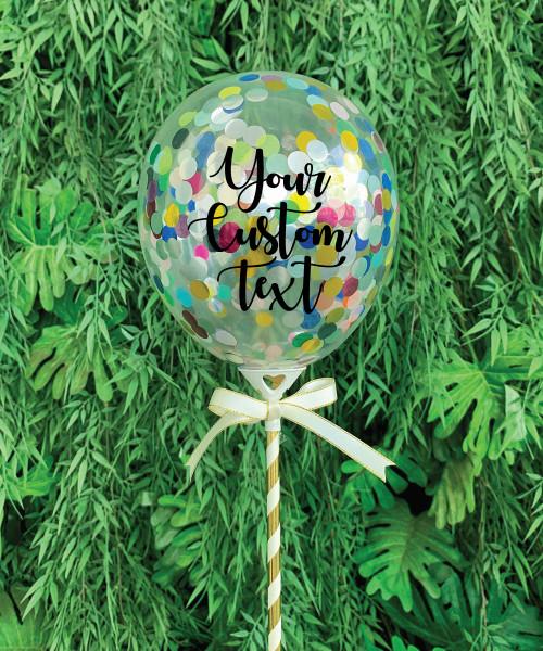 """5"""" Personalised Mini Round Confetti (1cm) Balloon Pop ( 5 colors)"""