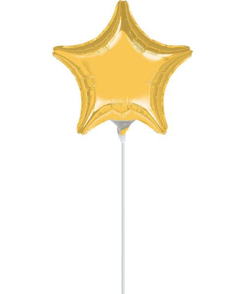 "9""/23cm Small Star Foil Balloon - Gold"