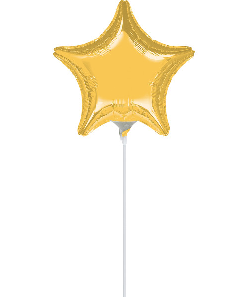 "9""/23cm Small Star Foil Balloon - Gold"