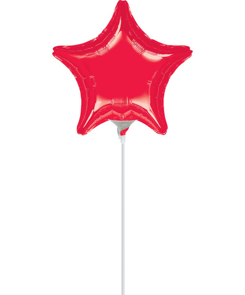 "9""/23cm Small Star Foil Balloon - Red"