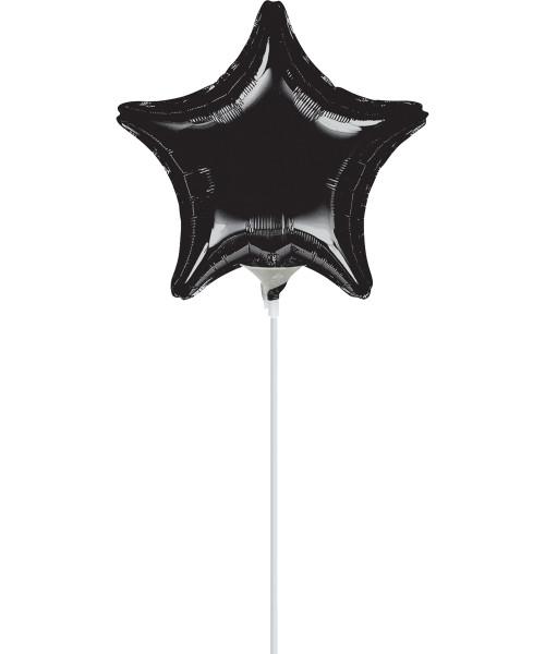 "9""/23cm Small Star Foil Balloon - Black"