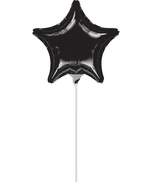 "9""/23cm Small Star Foil Balloon - Black"