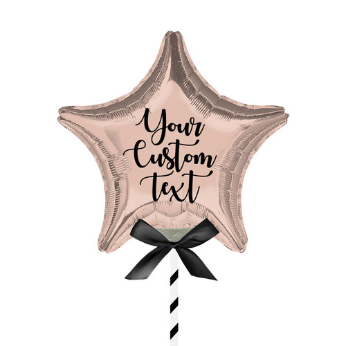 "9""/23cm Personalised Small Star Foil Balloon - Rose Gold"
