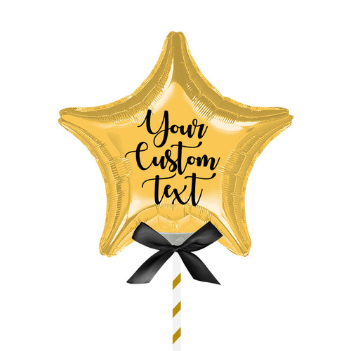 "9""/23cm Personalised Small Star Foil Balloon - Gold"