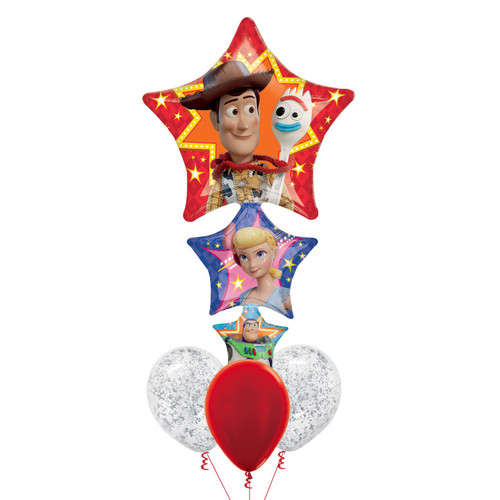 Toy Story 4 Main Casts Confetti Balloons Bouquet