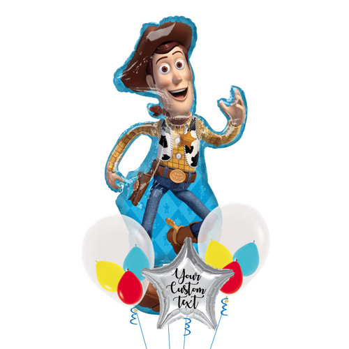 Personalised Toy Story Woody Triplet Balloons Bouquet