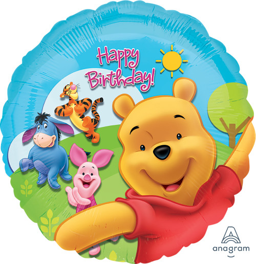 Pooh & Friends Sunny Birthday Foil Balloon (18 Inch)