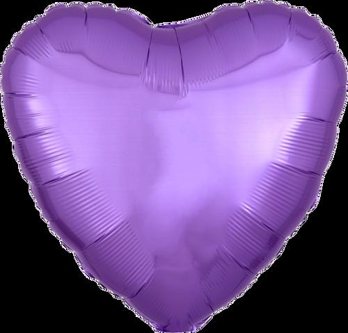 "18"" Heart Foil Balloon - Pearl Lavender"