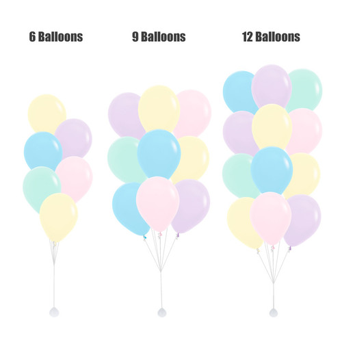 "(Create Your Own Helium Bouquet) 12"" Rainbow Latex Balloons Cluster - Macaron Pastel Matte"