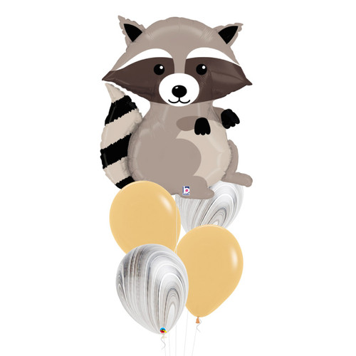 [Animal] Woodland Raccoon Marble Fun Balloons Bouquet