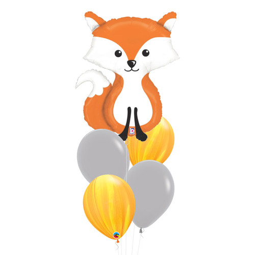 Woodland Fox Marble Fun Balloons Bouquet