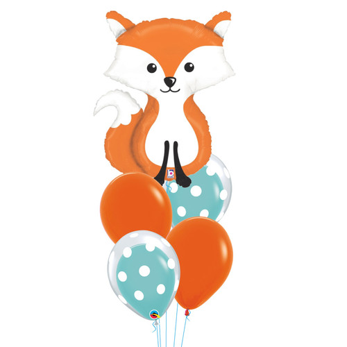 Woodland Fox Bubble Fun Balloons Bouquet