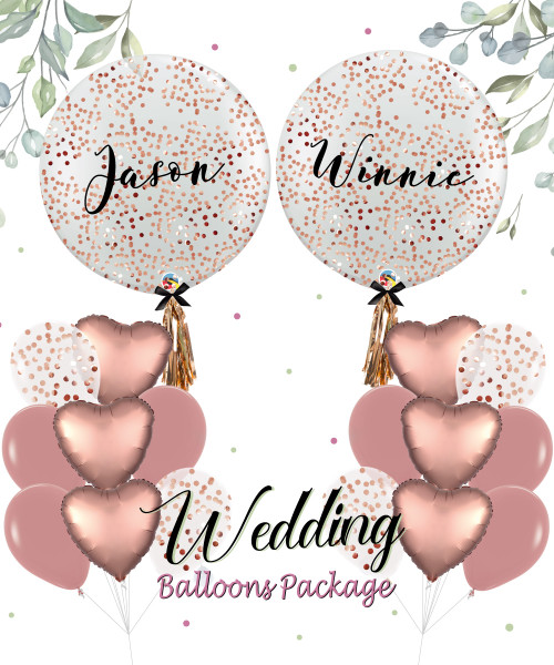 Happily Ever After Wedding Balloon Package