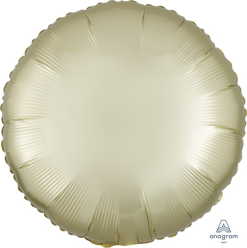 "17"" Satin Luxe Round Foil Balloon - Pastel Yellow"