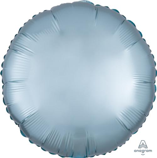 "18"" Satin Luxe Round Foil Balloon - Pastel Blue"