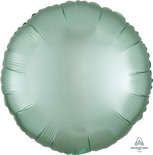 "18"" Satin Luxe Round Foil Balloon - Mint Green"