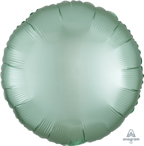 "18"" Satin Luxe Round Foil Balloon - Mint Green"