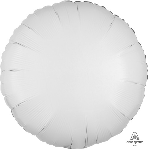 "17"" Round Foil Balloon - Metallic White"