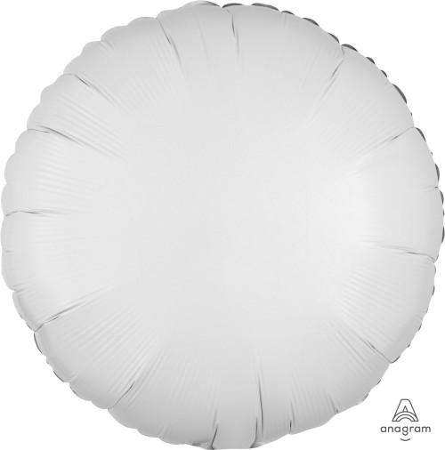 """17"""" Round Foil Balloon - Metallic White"""