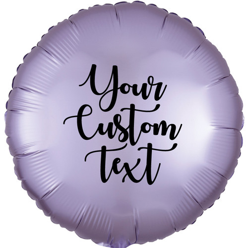 """17"""" Personalised Satin Luxe Round Foil Balloon - Pastel Lilac"""