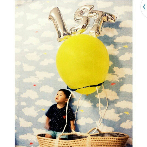 """16"""" Small Number Foil Balloon - Gold"""
