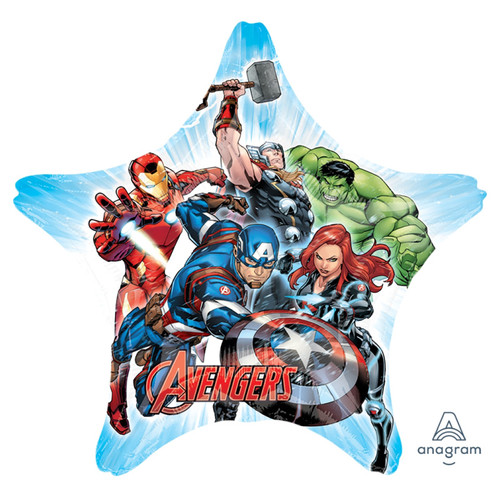 Jumbo Avengers Team Star Foil Balloon (32inch)
