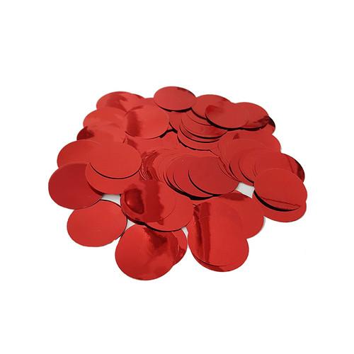 30gram Paper Round Confettis (2.5cm) - Metallic Red