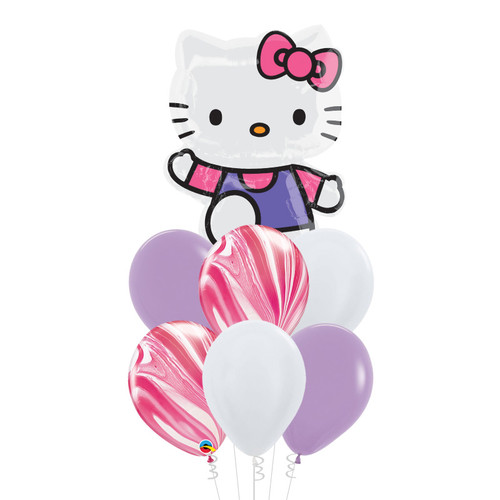 Hello Kitty Pink & Purple Foil Balloons Bouquet