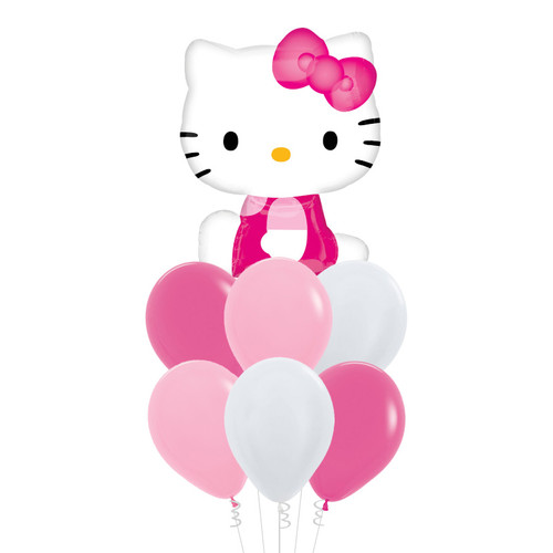Hello Kitty Side Pose Foil Balloons Bouquet