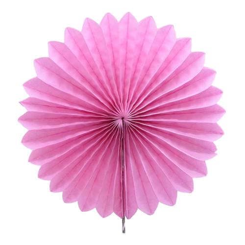 Paper Flower Fan (25cm) - Baby Pink