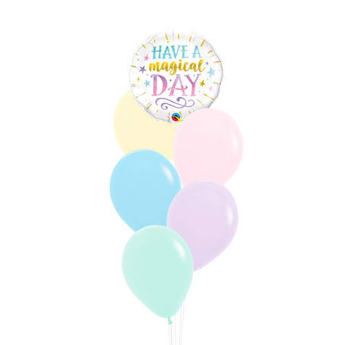 Have a Magical Day Rainbow Balloons Bouquet
