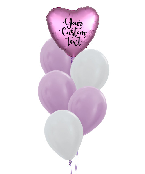 (Create Your Own Helium Bouquet) Personalised You're Loved Balloons Cluster - Metallic Color