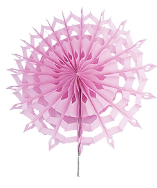 Paper Snowflake Fan (20cm) - Baby Pink