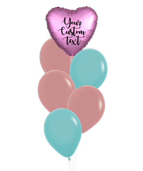 (Create Your Own Helium Bouquet) Personalised You're Loved Balloons Cluster - Fashion Color