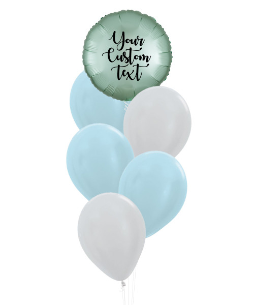 (Create Your Own Helium Bouquet) Personalised You're My Universe Balloons Cluster - Metallic Color