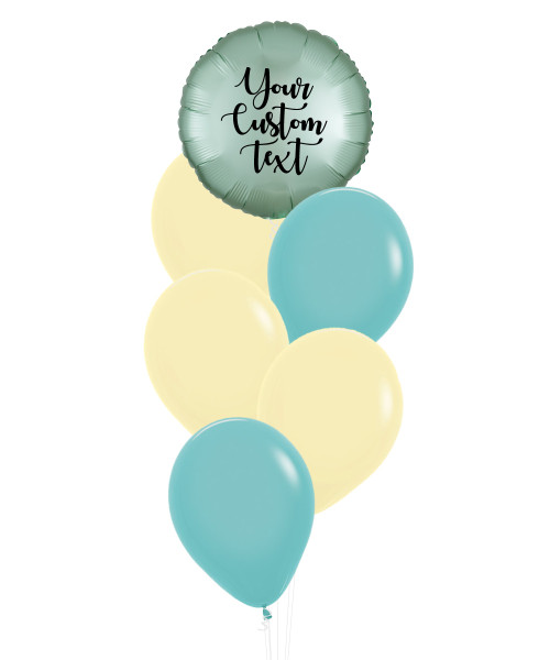 (Create Your Own Helium Bouquet) Personalised You're My Universe Balloons Cluster - Fashion Color