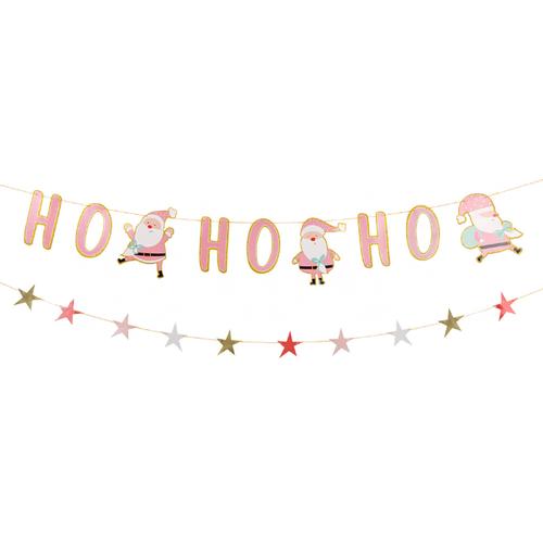 [Merry Christmas] Christmas Paper Bunting (2.5meter) - Santa Claus Ho Ho Ho