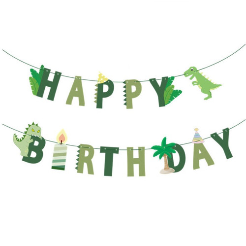 Happy Birthday Letter Bunting (3meter) - Dinosaurs Themed