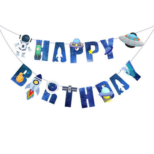 Happy Birthday Letter Bunting (3meter) - Space Astronaut Themed