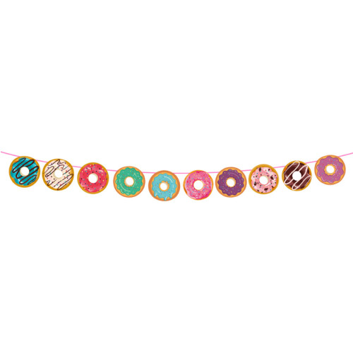 Paper Garland (3meter) - Sweet Colorful Donuts