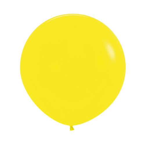 "Yellow [Oval Shaped] 36""/3 Feet Giant Round Latex Balloon - Yellow"