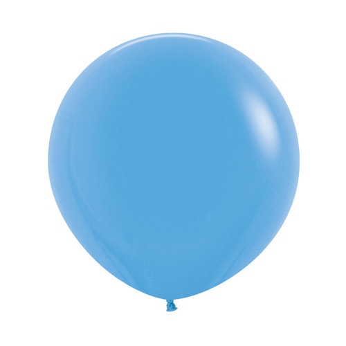 "[Oval Shaped] 36""/3 Feet Giant Round Latex Balloon - Blue"