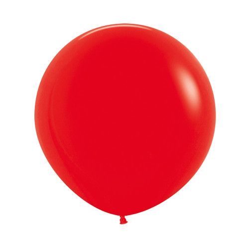 """[Oval Shaped] 36""""/3 Feet Giant Round Latex Balloon - Red"""
